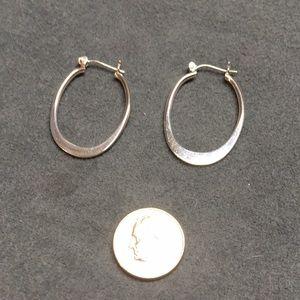 Silpada Jewelry - NWT Sterling silver Silpada oval hoop earrings